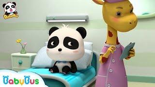 Baby Panda didn't Want to Go to School | Doctor Pretend Play | Panda Cartoon | Doctor Song | BabyBus