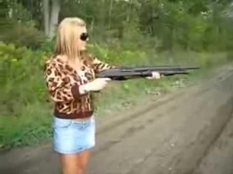 Прикол - почему не стоит давать девушкам оружие