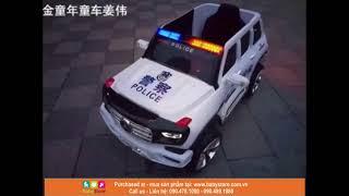 Ô tô điện trẻ em BMW A90-6605 (Xe cảnh sát có còi hú, cánh mở, BH 1 năm)