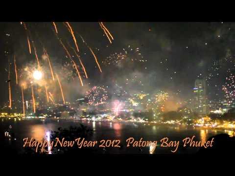 2012 New Year Fireworks Patong Phuket. Приключения в Тайланде (Остров Пхук