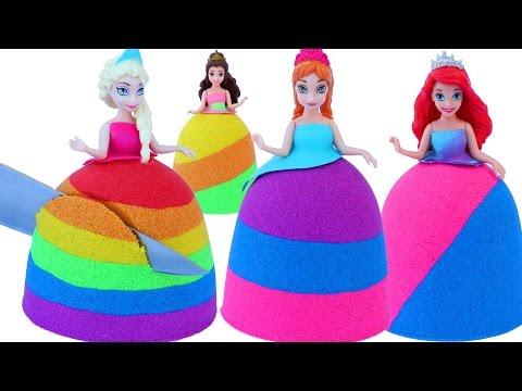 DIY Colors Kinetic Sand Disney Princess Dresses Elsa Anna Ariel Kinetic Sand MagiClip Mighty Toys