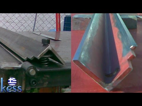 Sheet Metal Bender Brake Part2 (DIY) Sharpening the Edges of Clamp