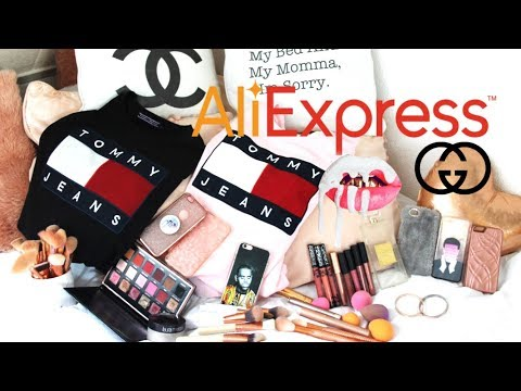 AliExpress Haul | Designer Brands on AliExpress | Tommy Hilfiger, Huda Beauty