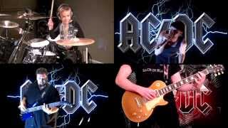 AC/DC Video - 'BACK IN BLACK' by AC/DC **WORLDWIDE COLLAB** Performed by Karl, Avery, Luke & Lee
