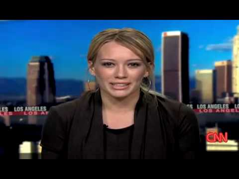 Hilary Duff on CNN -