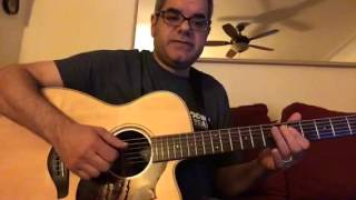 Earth Wind an Fire Fantasy Acoustic Guitar lesson with chords