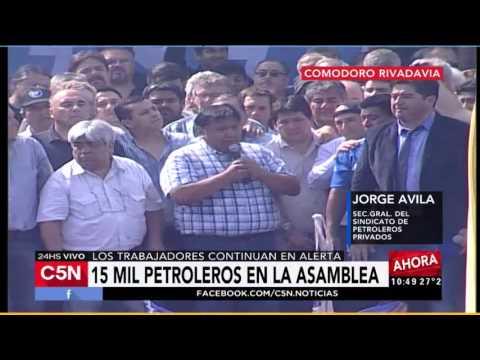 C5N - Crisis Petrolera: Asamblea de petroleros en Chubut (Parte 2)