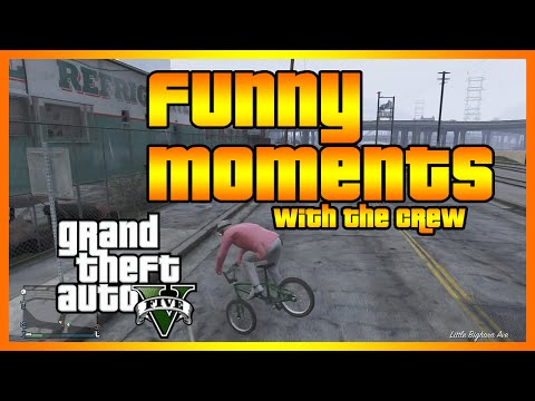 GTA 5 Online - Funny Moments with The Crew (High Flying Bike Tricks and More!)