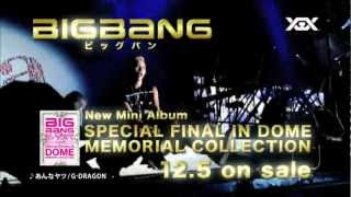 BIGBANG - SPECIAL FINAL IN DOME MEMORIAL COLLECTION (TV-SPOT 30 sec.)