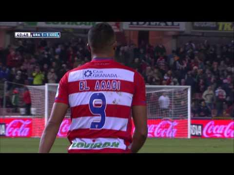 Gol de El Arabi (1-1) en el Granada CF - Celta de Vigo - HD
