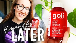 Goli Apple Cider Vinegar Gummies REVIEW // 4 months later