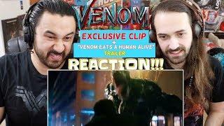 "VENOM - ""Venom Eats a Human Alive"" & ""Eddie Brock Ambushes Carlton Drake"" CLIP - TRAILER REACTIONS!"