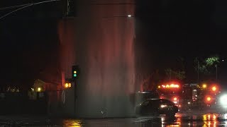 When A Car Hits A Fire Hydrant At Night