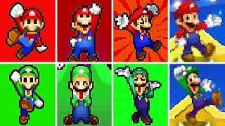 Evolution of Mario & Luigi Series VICTORIES and LEVEL UP Screens (2003-2017)