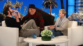 John Krasinski Gets a Scare on Ellen's Street Poster