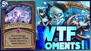 Hearthstone - DOOM!! WTF Moments - Frozen Throne Rng Moments