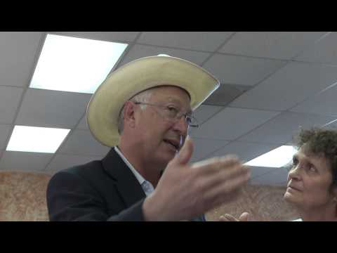 Interview with Secretary of the Interior Ken Salazar on Election Day in Fountain, Colorado. Full story of this can be found here: http://bit.ly/WZiD8r Footag...
