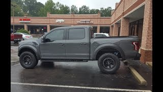 2018 FORD F150 RAPTOR OWNER REVIEW EXTERIOR AND INTERIOR QUICK LOOK LEADFOOT GRAY!