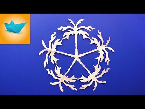 Как сделать снежинку клип