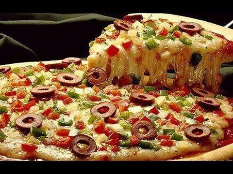 Пицца рецепт простой приготовления  Тесто для пиццы.Как приготовить пиццу.Ингредиенты для пиццы