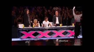 Larry The Mime Nick Cannon Pulls Prank On Judges America got Talent 2014