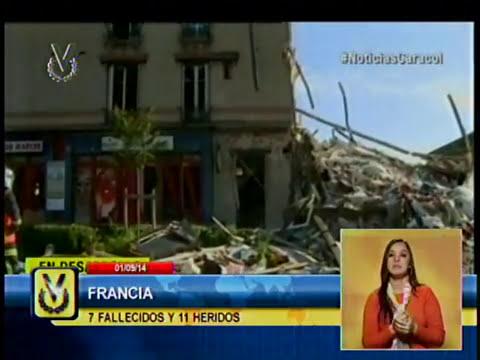 Se eleva a 7 el número de fallecidos en el derrumbe de un edificio en Francia