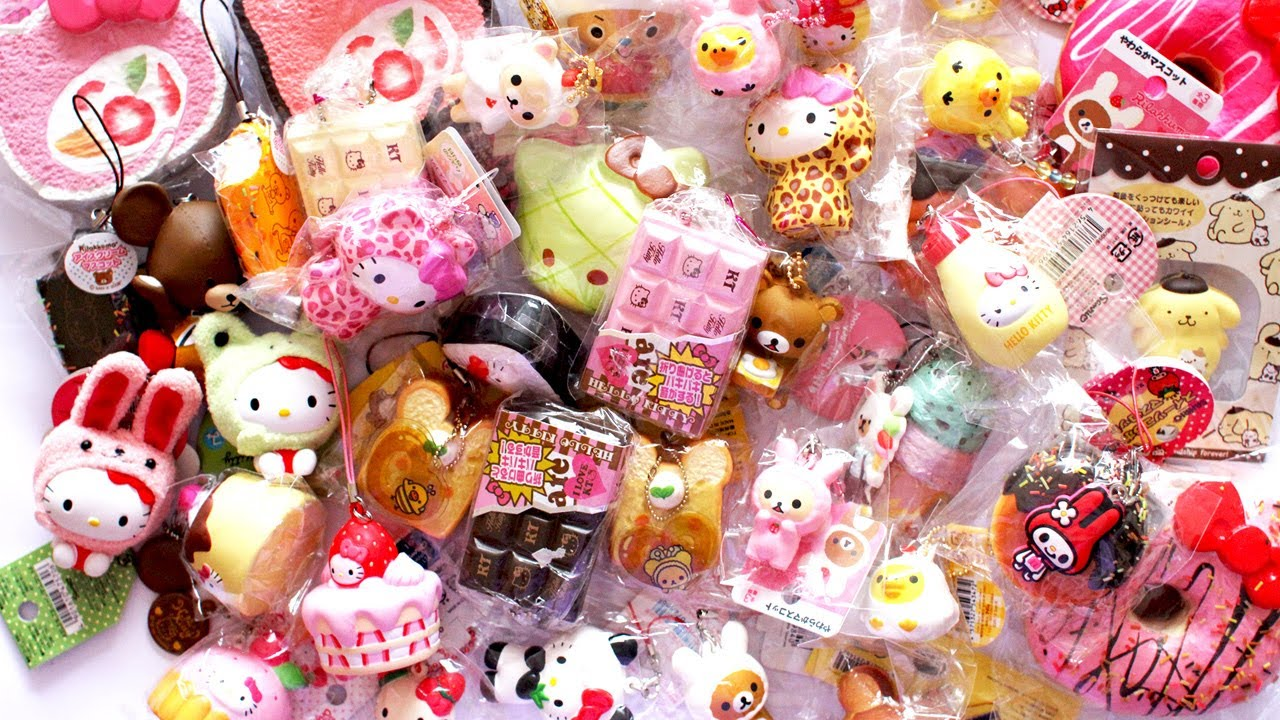 Huge Rare Squishy Collection : ?SQUISHY COLLECTION! (Hello Kitty + Rilakkuma, Etc)? - YouTube