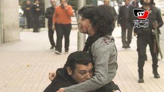 قصة صورة  الشاب الذي حاول إنقاذ شيماء الصباغ يروي حكايتها