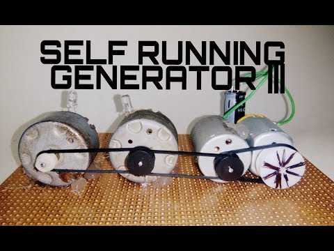 Self Running Generator | Free Energy | Using 3 Dynamo Motor And Capacitor.