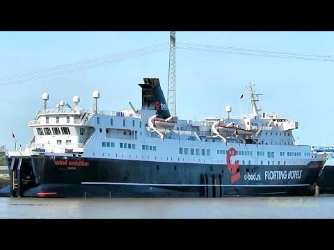 roro passenger ship WIND AMBITION c-bed floating hotels Emden BJ 1974 ex ferry offshore accomodation