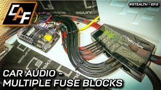ADVANCED Car Audio Wiring - Multiple Fuse Blocks - Project Stealth