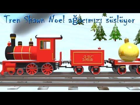 Çizgi film – Tren Shawn Noel ağacımızı süslüyor – renkleri ogreniyoruz