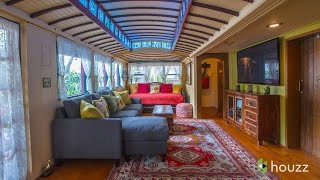 A Funky Beach Home Made From Old Streetcars