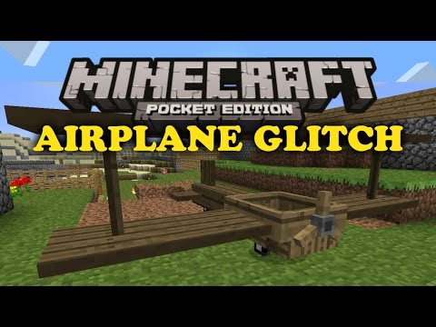 ✔ Airplane Minecart Glitch - Minecraft PE