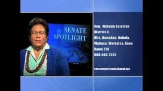 Senate Spotlight: Featuring Senator Malama Solomon