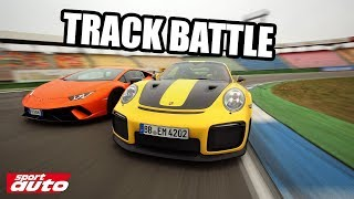 Porsche 911 GT2 RS vs Lamborghini Huracán Performante Track Battle sport auto