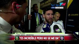 Messi anuncio su retiro de la Seleccion Argentina despues de perder la final con Chile - 2016