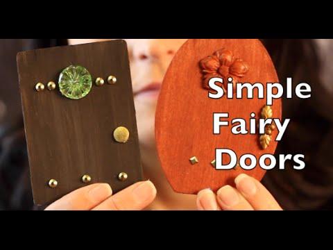 Diy How To Make A Fairy Door Craft Idea Tutorial Youtube
