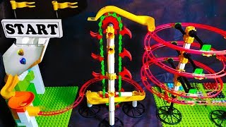 MARBLE RUN with AUTOMATIC ELEVATOR - Elimination Race Mini Tournament - Marble Games