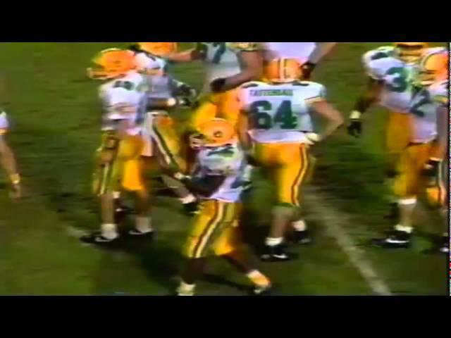 Oregon RB Donovan Moore 7 yard run for 1st down vs. ASU 11-09-1991