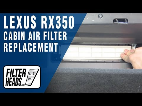 Cabin air filter replacement- Lexus RX350