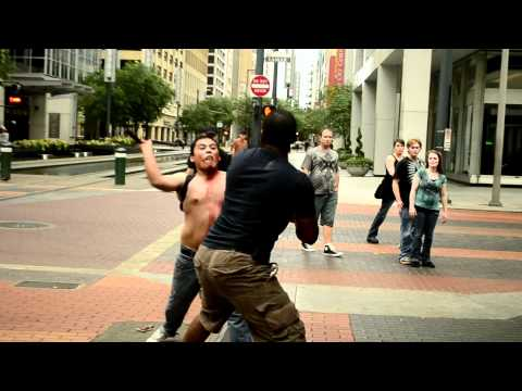 Fight in Downtown Houston