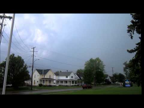 Lightning Streamer caught on HD Video By Storm Spotter