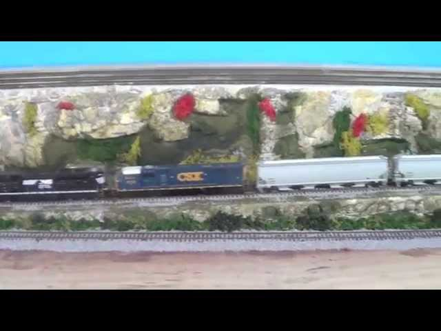 "Model Trains My HO CSX Railway Part 37 ""Finished Ground Cover"""