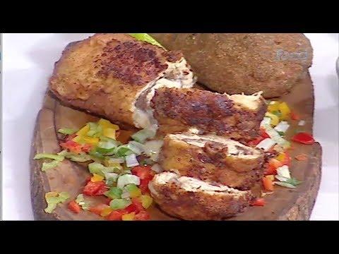 رول شرائح دجاج المفروم بحشوه اللحم #غفران_كيالي #هيك_نطبخ #فوود