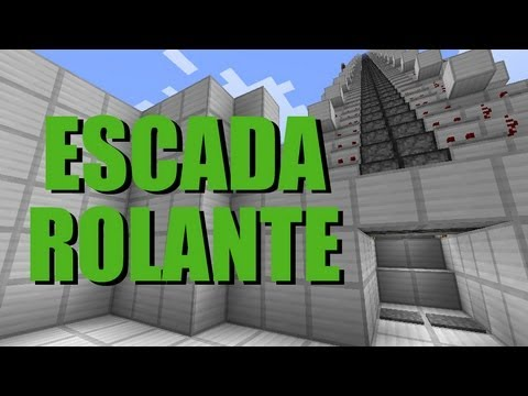 Escada rolante super rápida Minecraft Tutorial 20