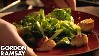Pan-fried Scallops With A Crunchy Apple Salad | Gordon Ramsay