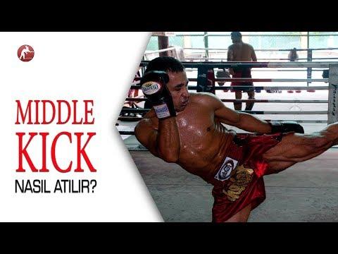 Kick Boks Teknikleri #18 Middle Kick Nasıl Atılır? Orta Tekme Nasıl Vurulur?