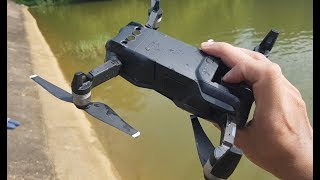My Best Bad Day :( DJI MAVIC Air Auto Tracking Collide with RC Boat