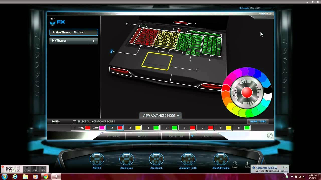 Alienware Laptop Colors on Alienware Laptop